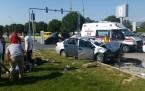 trafik kazası sonucu 7 kişi yaralandı.