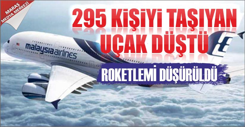 295 kişiyi taşıyan Malezya uçağı düştü