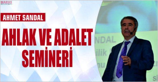 AHMET SANDAL SİİRT'TE AHLAK VE ADALET ÜZERİNE KONFERANS SUNDU