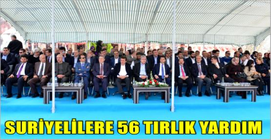 AK PARTİ'DEN SURİYELİLERE 56  TIRLIK YARDIM