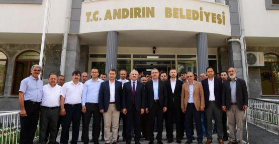 BAŞKAN GÜNGÖR, ANDIRIN'I ZİYARET EDEREK İNCELEMELERDE BULUNDU