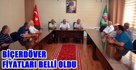 ELBİSTAN OVASI'NDA BİÇERDÖVER FİYATLARI BELİRLENDİ