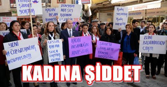 ELBİSTAN'DA KADINA ŞİDDETE HAYIR EYLEMİ