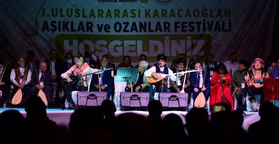 """""""I. ULUSLARARASI ÂŞIKLAR VE OZANLAR FESTİVALİ"""" GERÇEKLEŞTİ"""