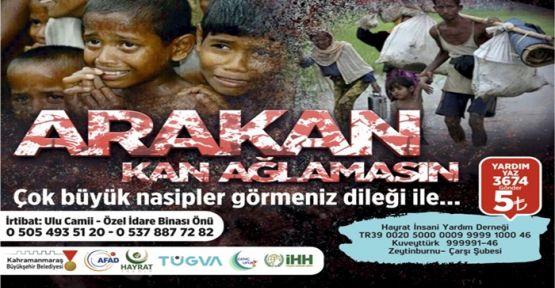 KAHRAMANMARAŞ'TAN ARAKAN'A YARDIM ELİ UZANDI