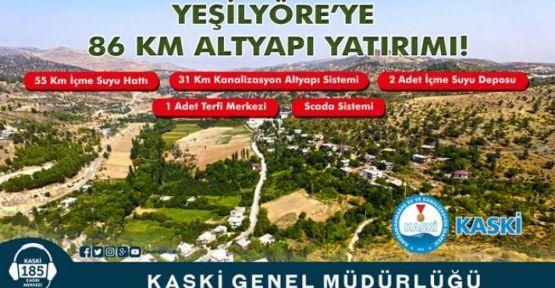 KASKİ 86 KM ALTYAPI ÇALIŞMASI YAPTI