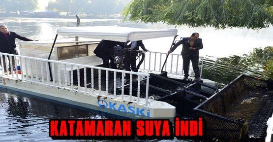 KASKİ KATAMARAN'I TÖRENLE SUYA İNDİRDİ