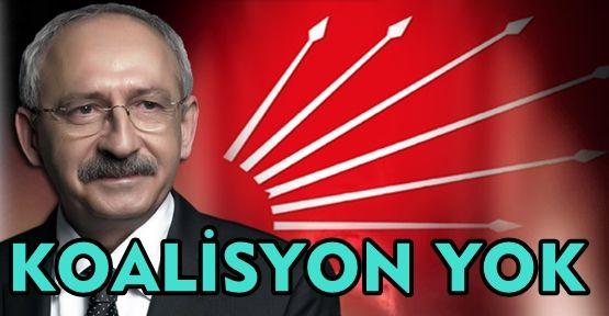 KILIÇDAROĞLU, KOALİSYON YOK!
