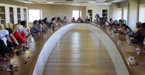 KSÜ REKTÖRÜ CAN, 34 ÜLKENİN KÜLTÜR ELÇİLERİNİ AĞIRLADI