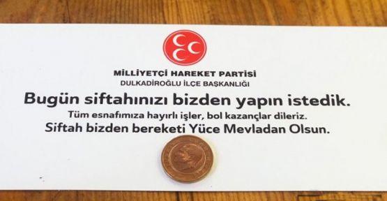 MHP'DEN  'SİFTAH' GELENEĞİ