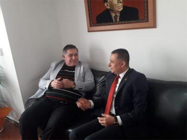 NALBANTBAŞI MHP'Yİ ZİYARET ETTİ