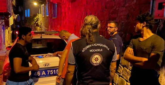 POLİS YABANCI BEKAR EVLERİNİ DENETLEDİ