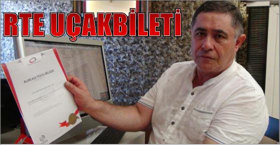 RTE UÇAK BİLETİ SATLIĞA ÇIKARILDI