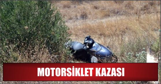 ŞARAMPOLE YUVARLANAN MOTORSİKLET SÜRÜCÜSÜ AĞIR YARALANDI