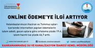 KASKİ ONLİNE ÖDEME'YE İLGİ ARTIYOR