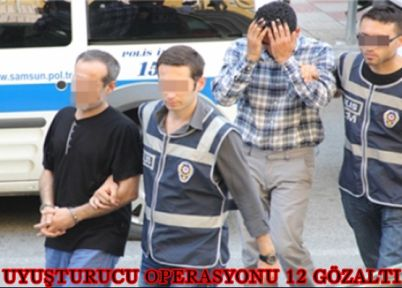 Uyuşturucu operasyonunda 12 gözaltı